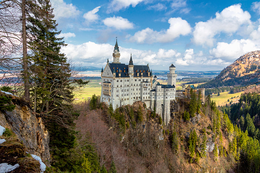 Neuschwanstein Castle near Fussen, southwest Bavaria, Germany