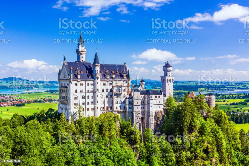 Kasteel Neuschwanstein - Royalty-free Alpen Stockfoto