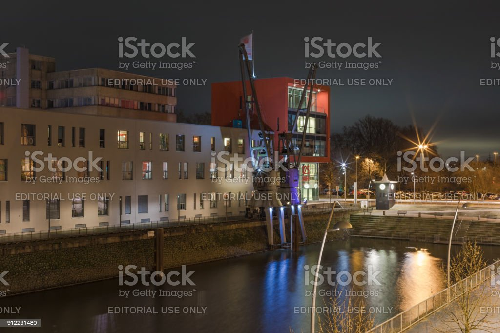 Neuss - Neuss Harbor, Germany, North Rhine Westphalia, Neuss, 23.01.2018 stock photo