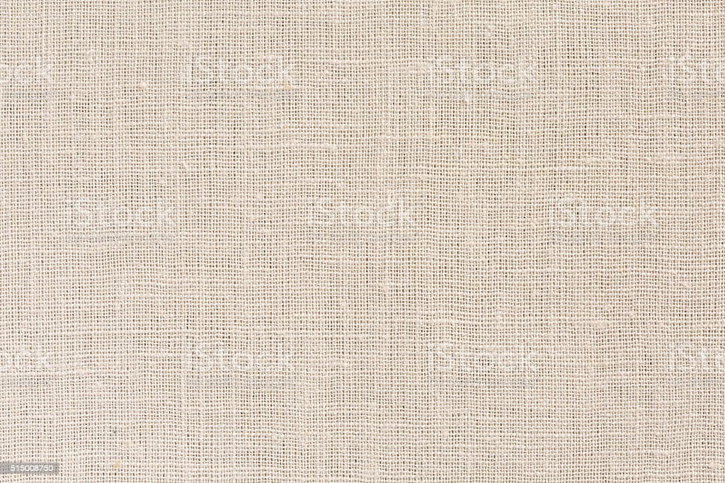 Neutral beige Fabric Background with clear Canvas Texture stock photo