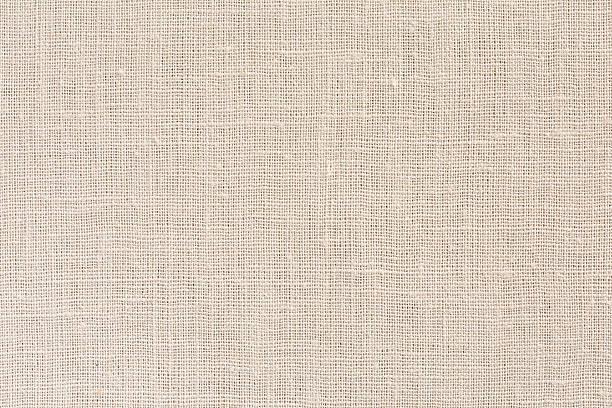 Neutralem beige Stoff Hintergrund mit klaren, Leinentextur – Foto