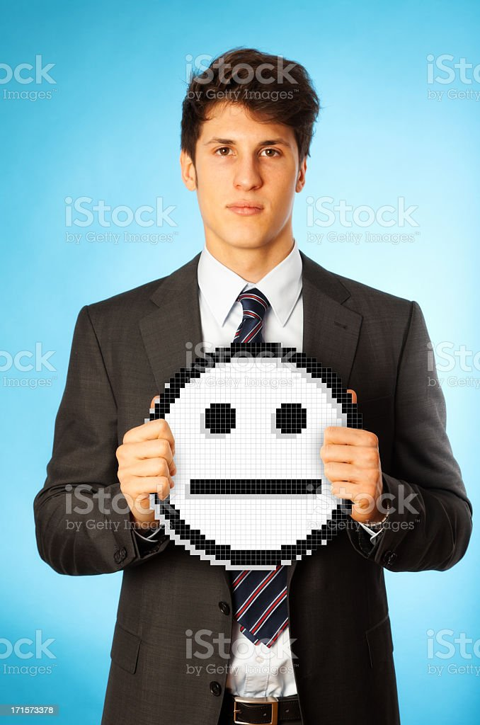 neutral businessman royalty-free stock photo