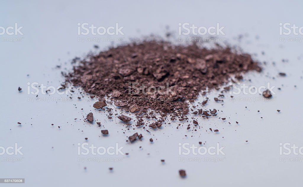 neutral rose brown makeup cosmetic powder pigment royalty-free stock photo