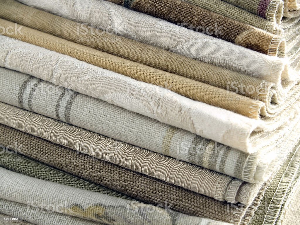 Neutral tan fabric swatches royalty-free stock photo