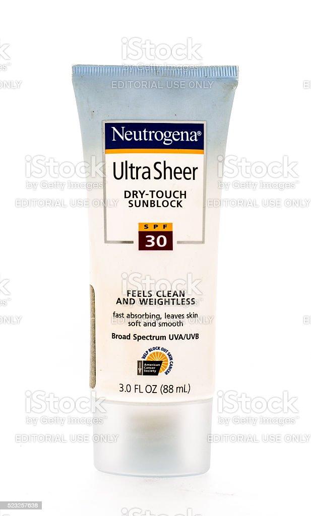 Neutrogena Sunblock stock photo