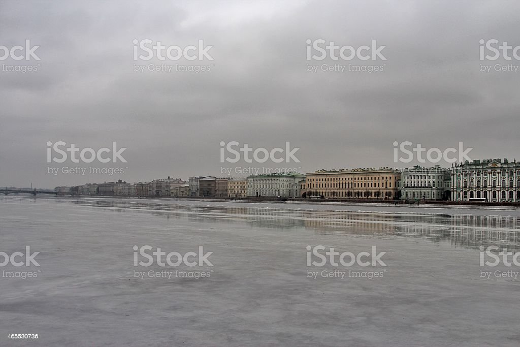 Neva River, St. Petersburg, Russia stock photo