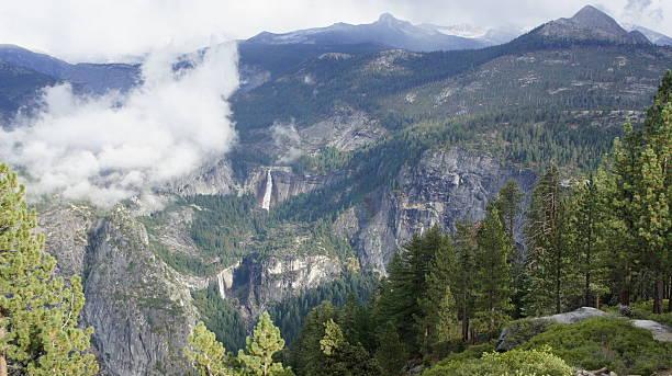 Nevada and Vernal Falls in Yosemite stock photo