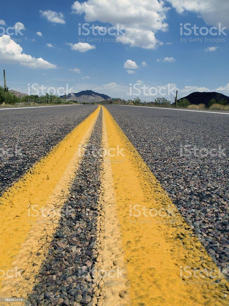 Nevada Desert Road trip royalty-free stock photo