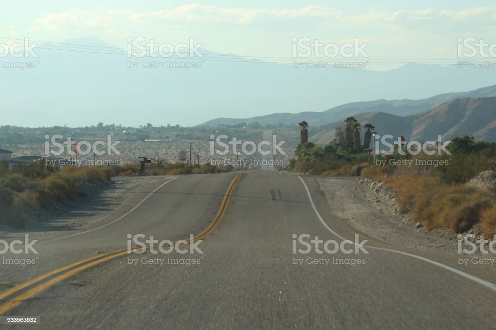 Nevada Dessert Road on Route 66 stock photo