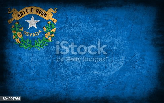 450754061 istock photo Nevada flag with grunge metal texture 694204766