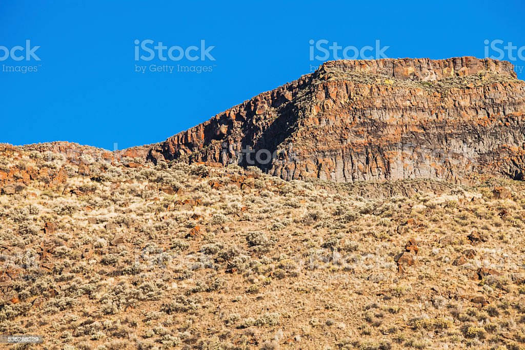 Nevada high desert rocky mountain hill and mountain with sagebrush royalty-free stock photo