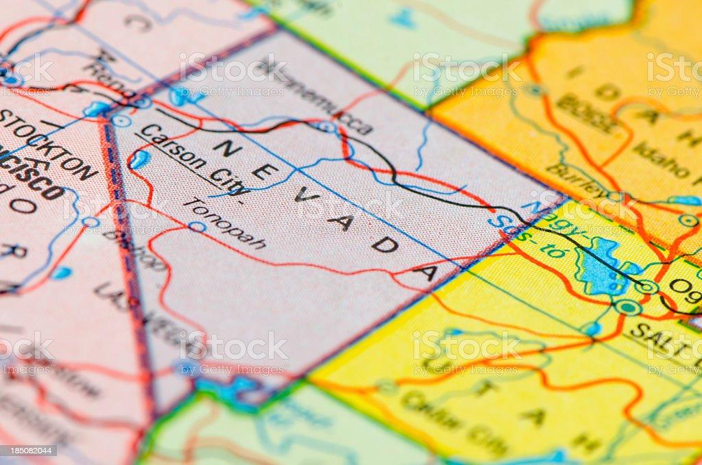 Nevada map stock photo