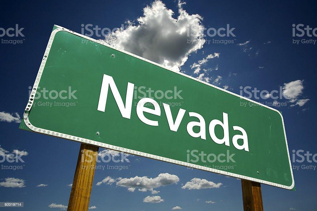 Nevada Road Sign royalty-free stock photo