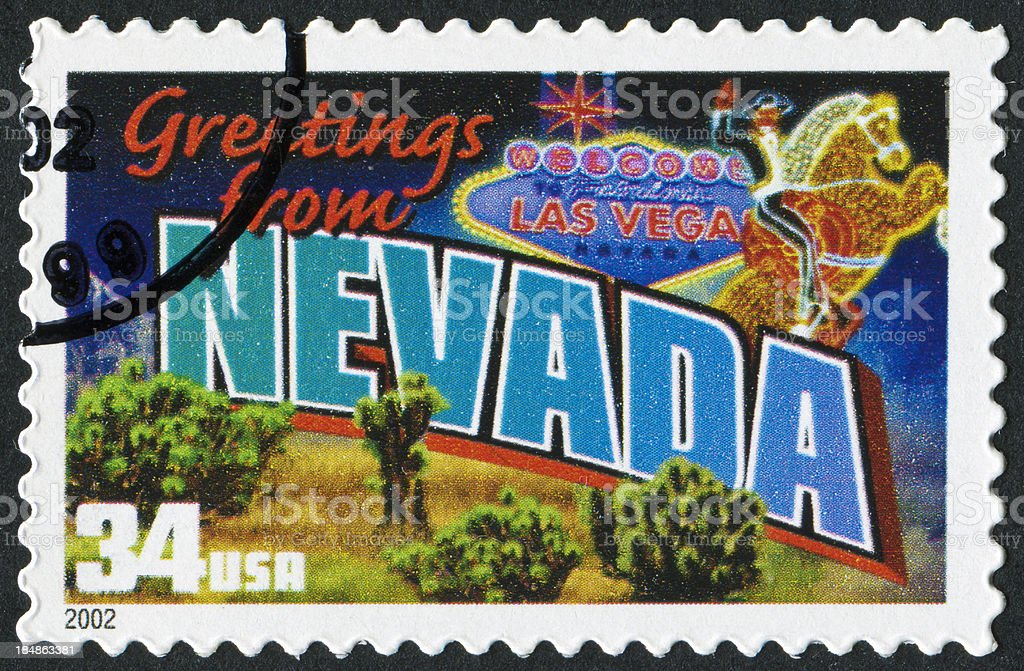 Nevada Stamp royalty-free stock photo
