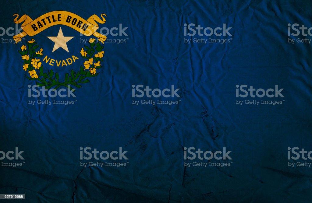 Bandeira de grunge do estado de Nevada - foto de acervo