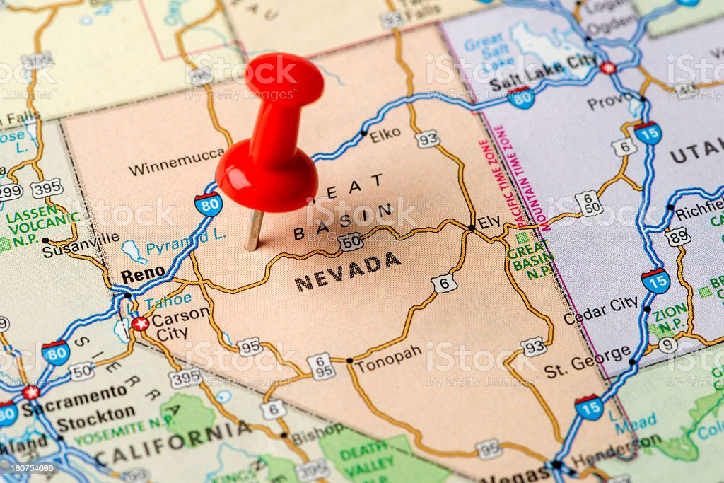 Nevada state stock photo