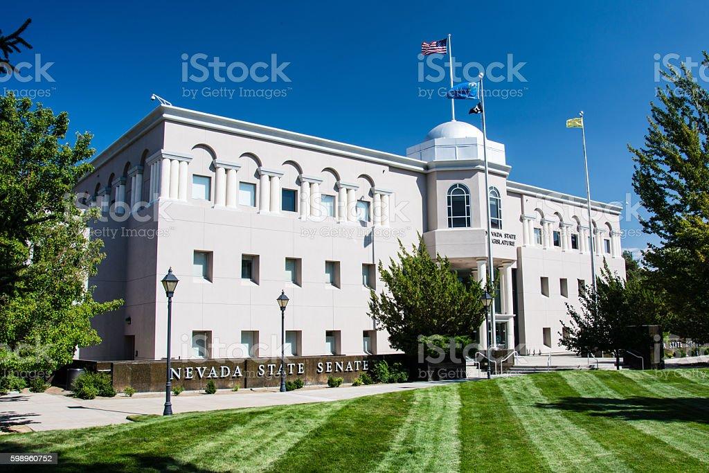 Nevada State Senate Building stock photo