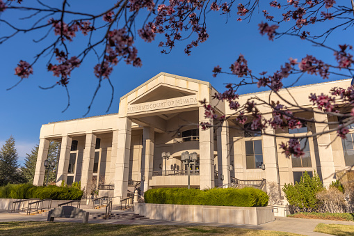 High quality stock photos of downtown Carson City's State Capitol Complex including the Nevada Supreme Court and Legislature.