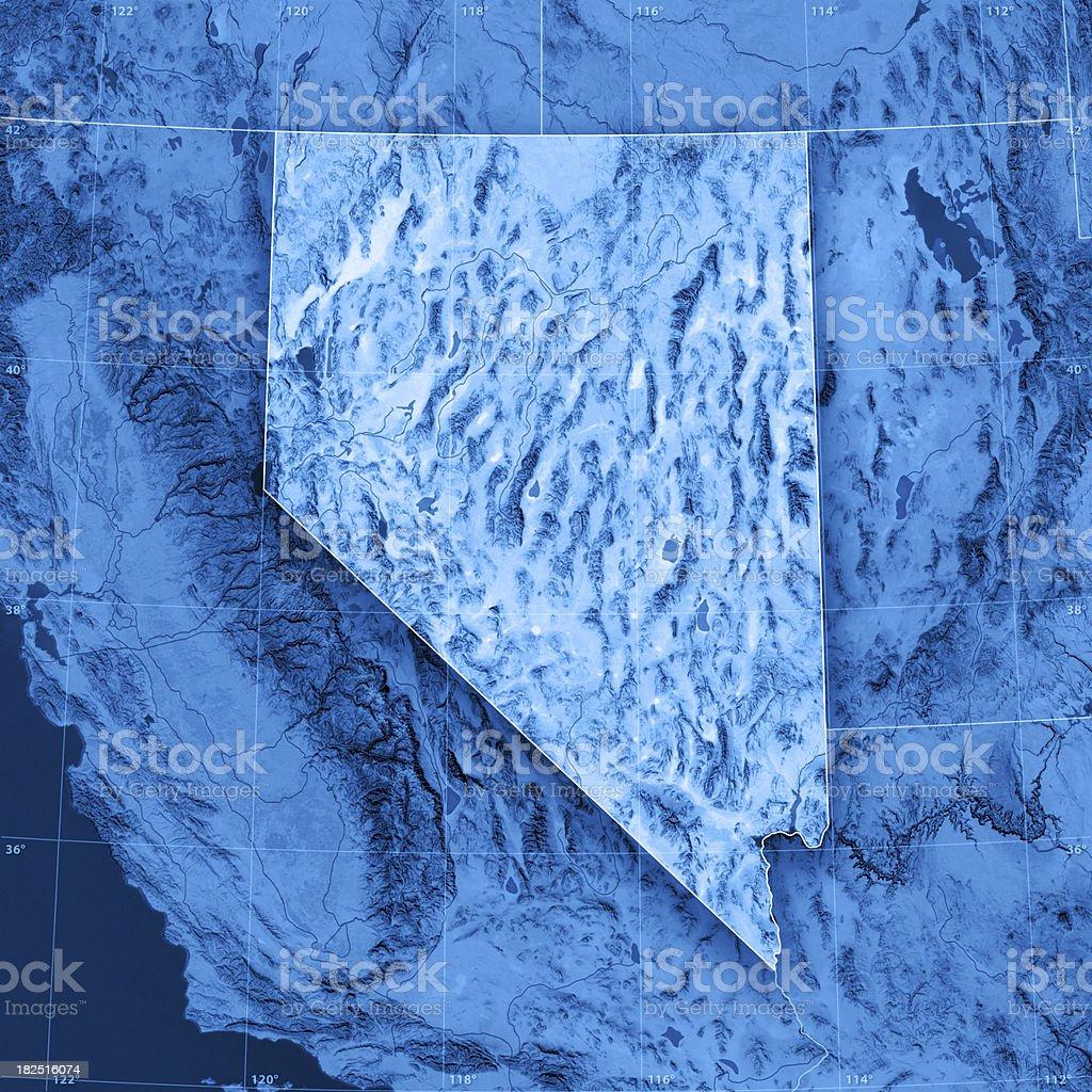 Nevada Topographic Map stock photo