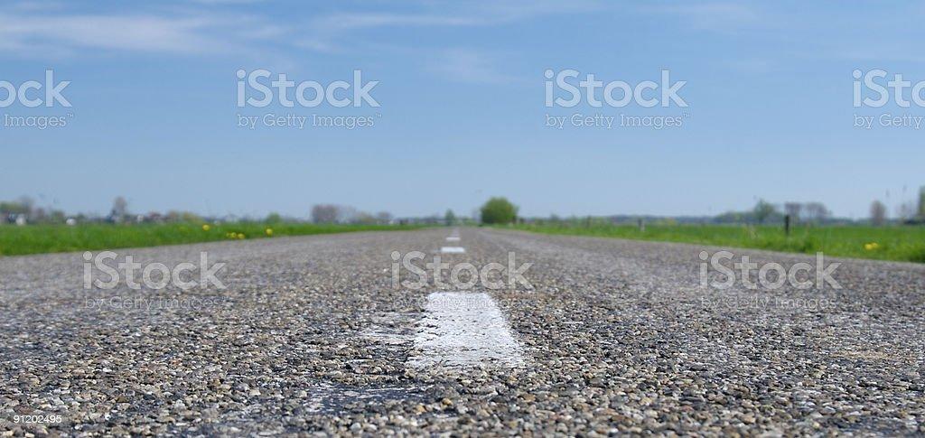 Never ending road stock photo