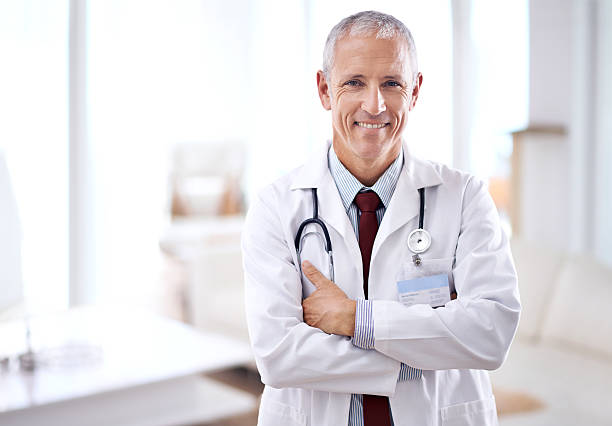Never fear, the doctor is here stock photo