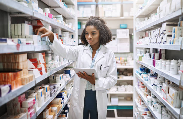 never fear, your pharmacist is here - pharmacy stock pictures, royalty-free photos & images