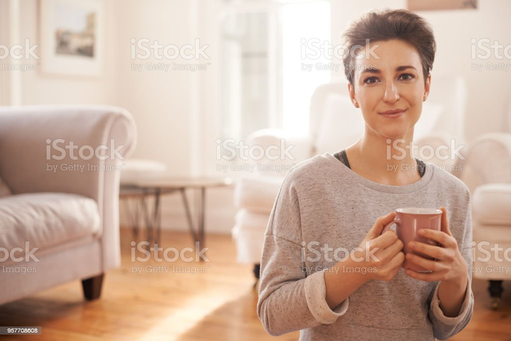 I never forget coffee, I actually have it often stock photo