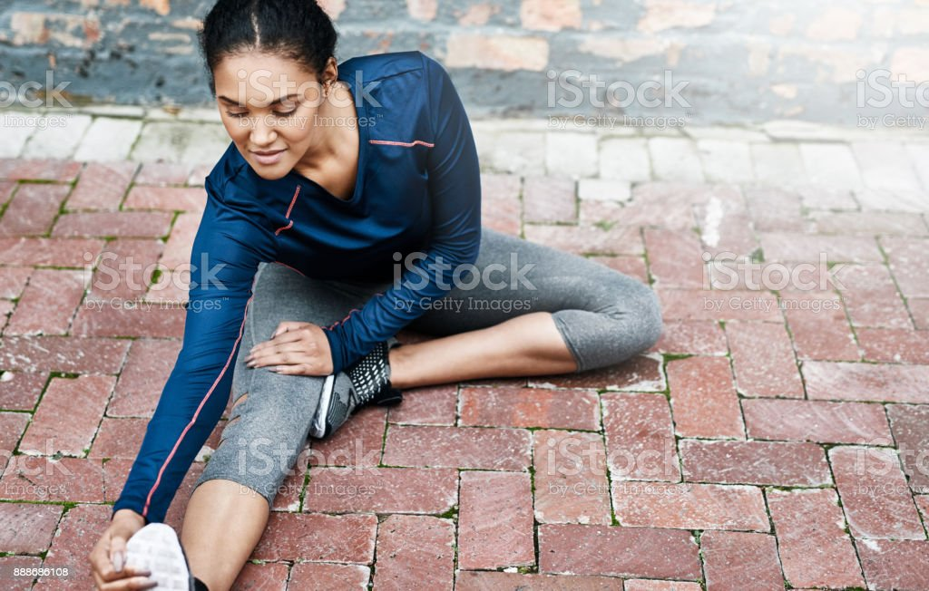 Never forget to stretch stock photo