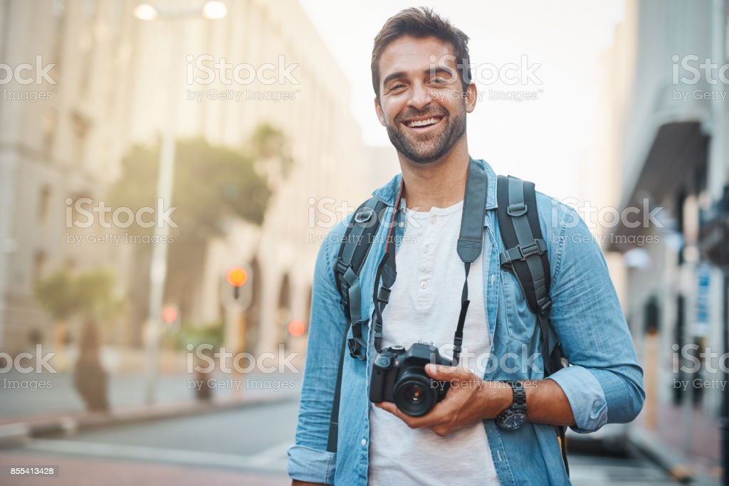 Never forget your camera when traveling stock photo