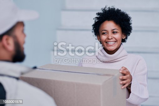 1053001624 istock photo Never late when I'm making a delivery 1053001578