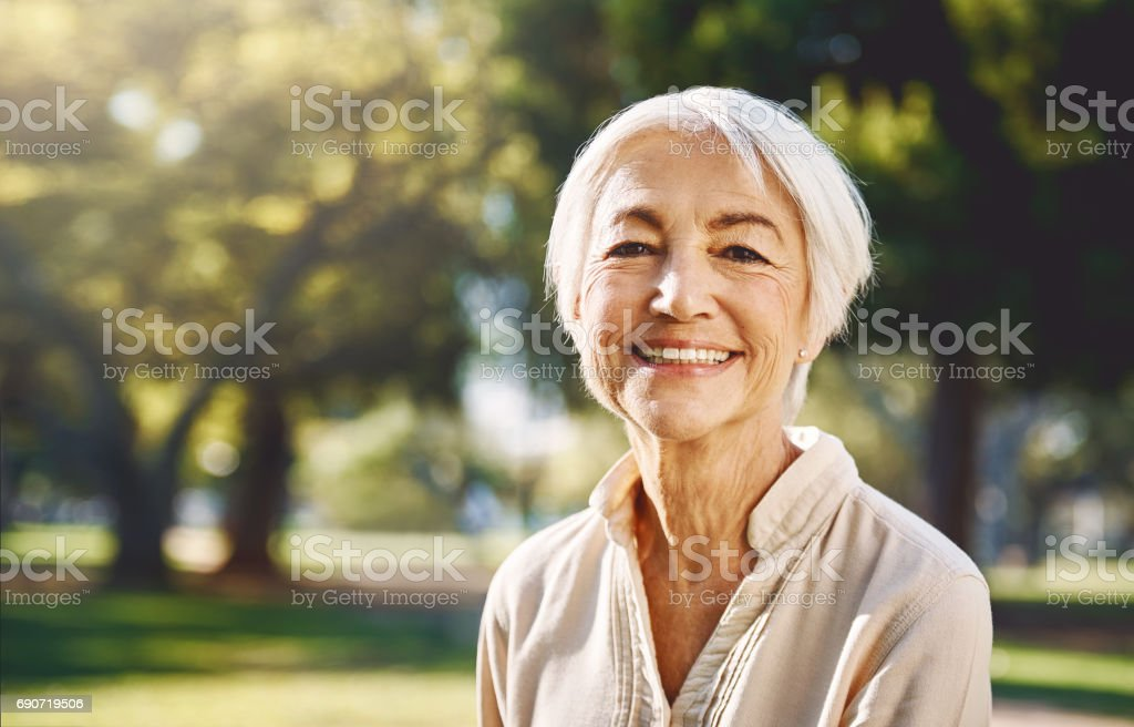 I never leave home without a smile stock photo