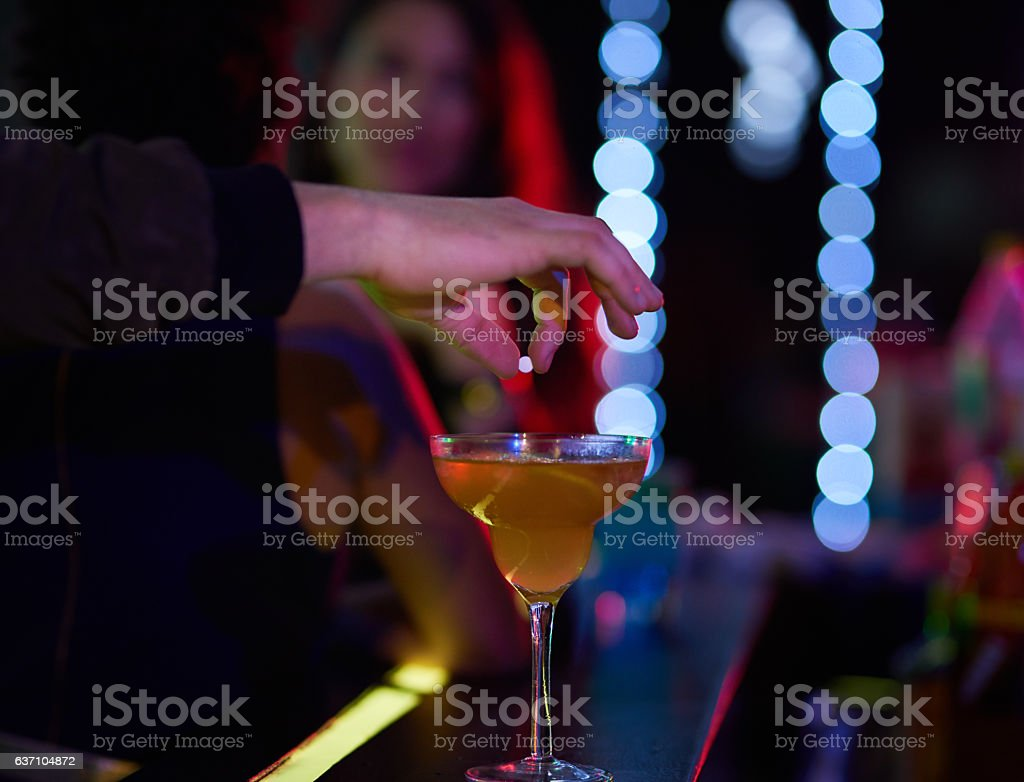 Never leave your drink unattended stock photo