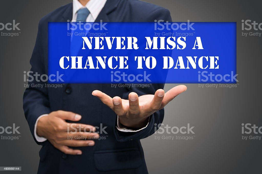 Never Miss a Chance to Dance stock photo