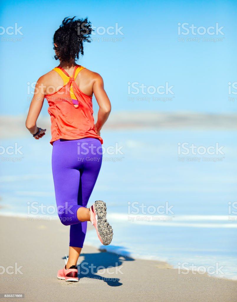 Never outrun your joy of running stock photo