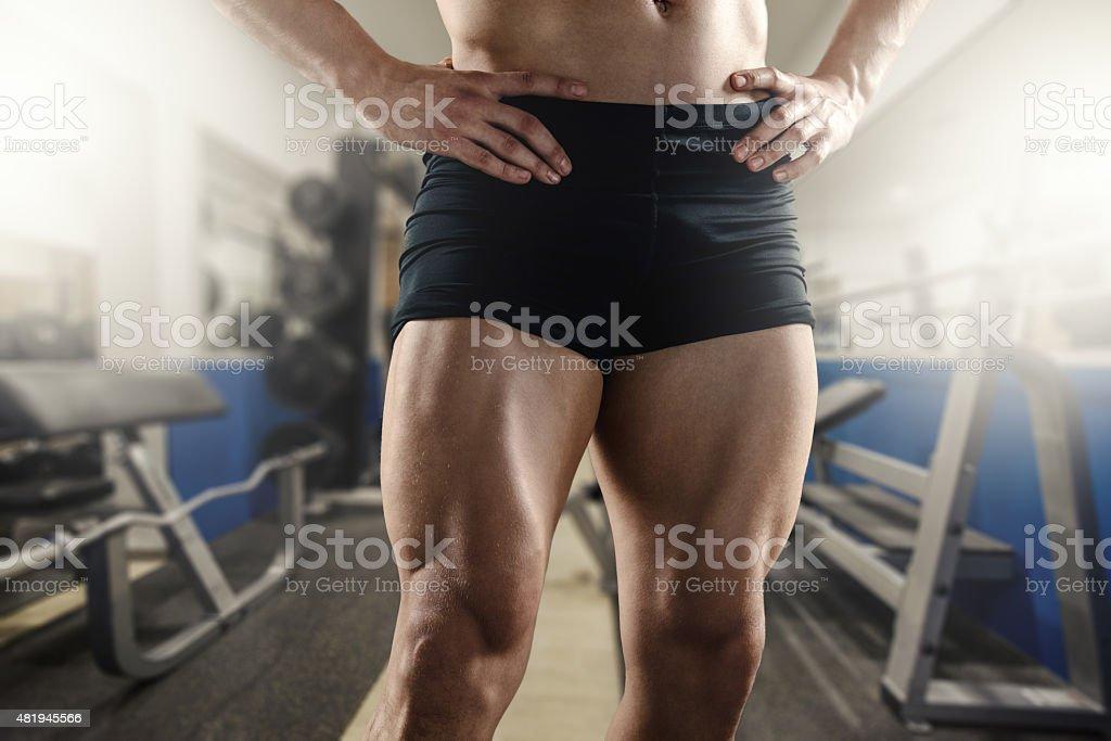 Never Skip Leg Day stock photo