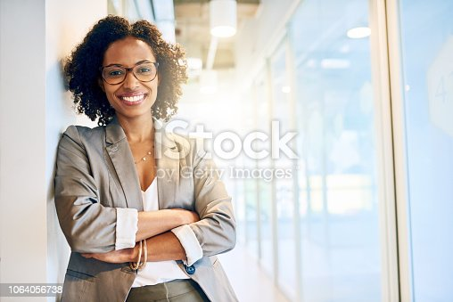 Cropped portrait of a beautiful businesswoman in a office
