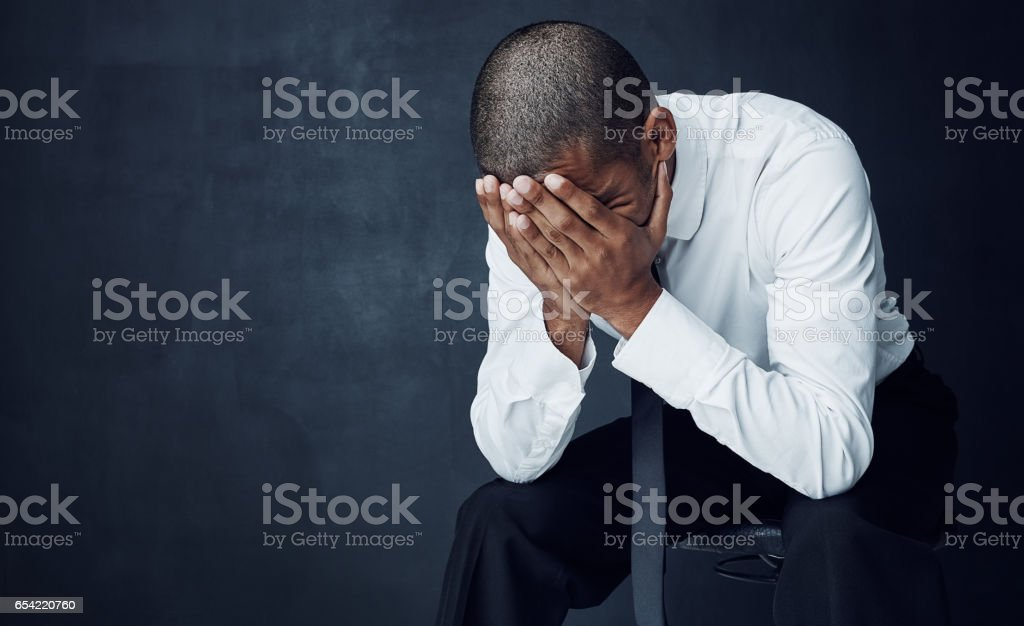 I never thought I would have to face failure stock photo