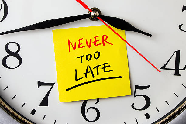 never too late stock photo