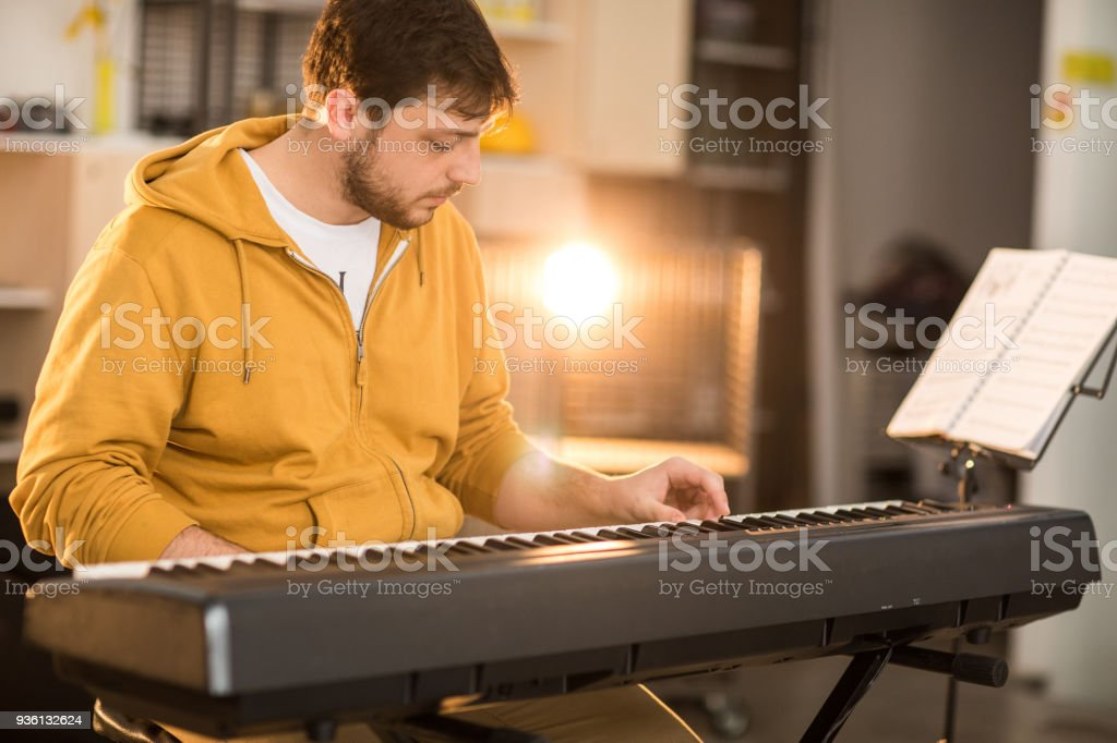 Never too late to start playing an instrument stock photo