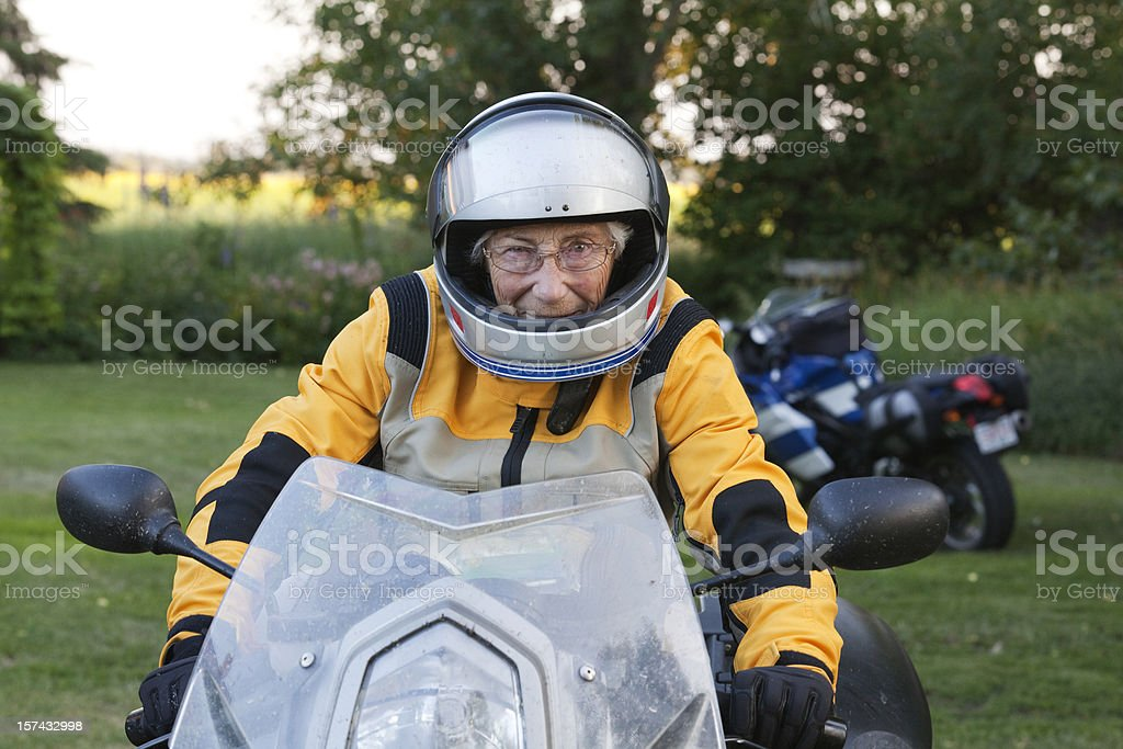 Never too old to ride stock photo