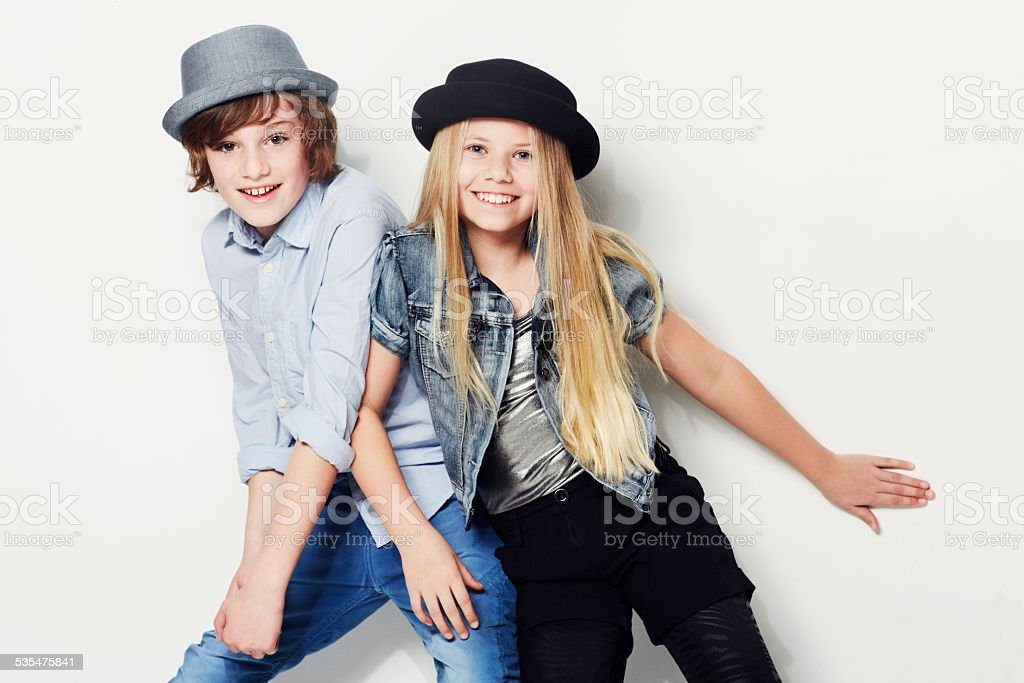 Never too young to look trendy stock photo