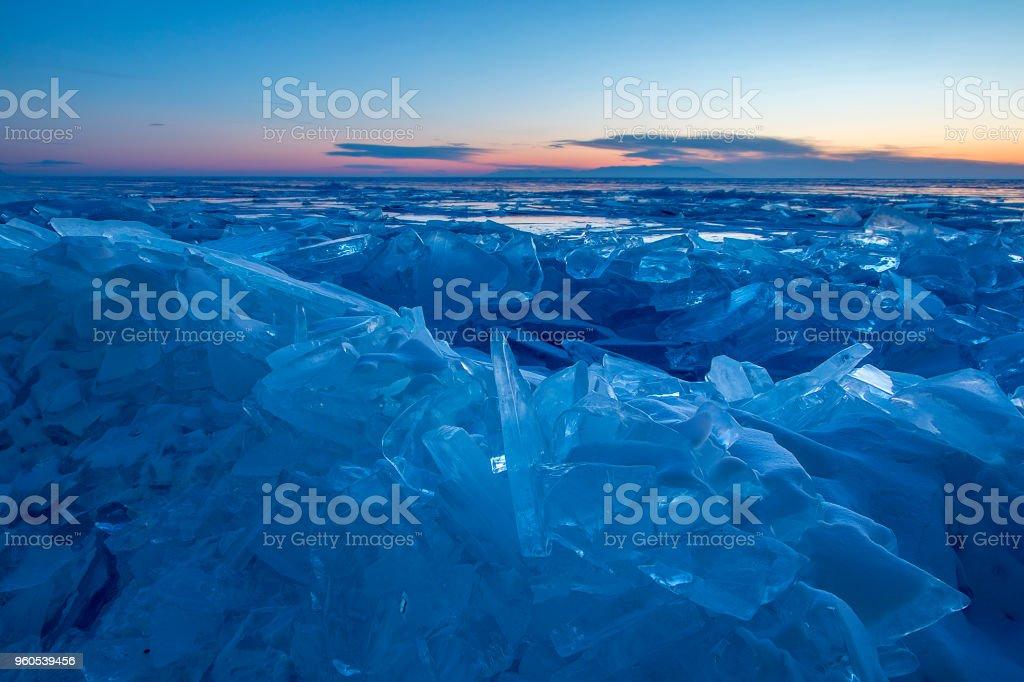 Never-ending ice stock photo