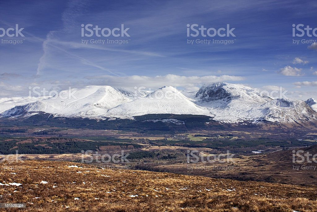 Nevis Range royalty-free stock photo