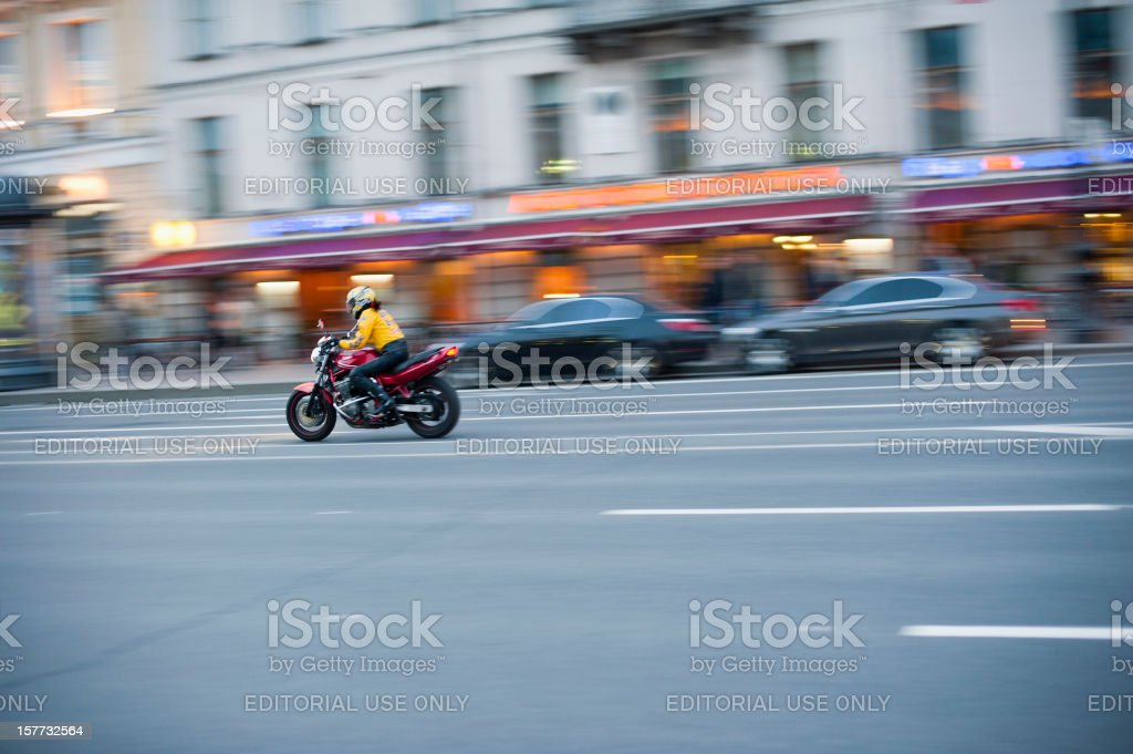 Nevsky Prospekt, St Petersburg royalty-free stock photo