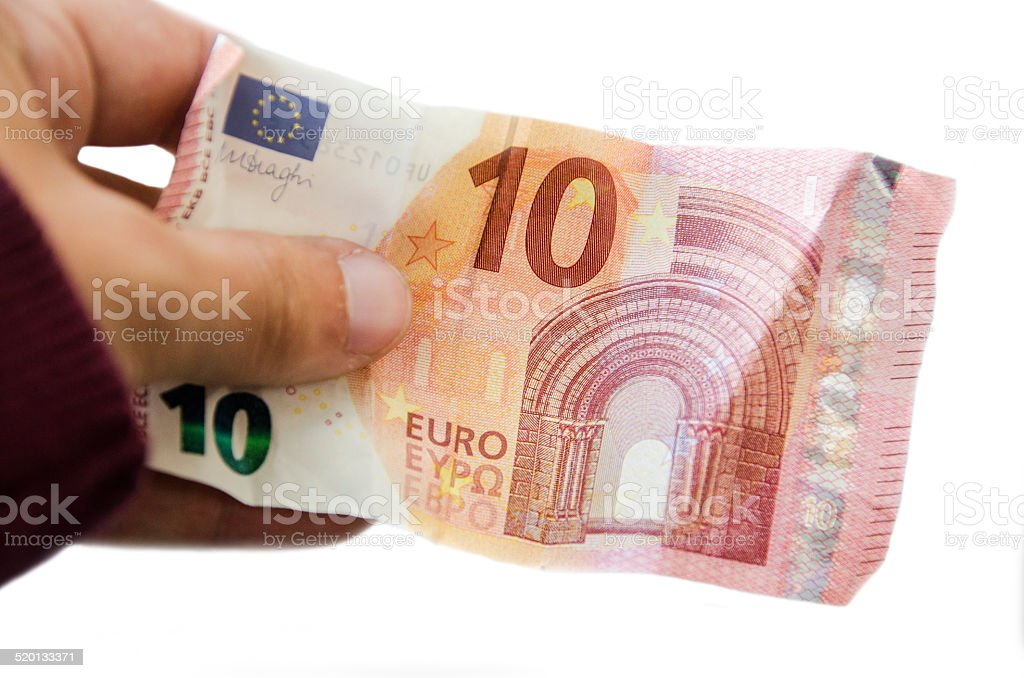 New €10 banknote stock photo