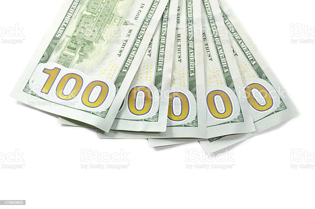 New 100 $ cash royalty-free stock photo