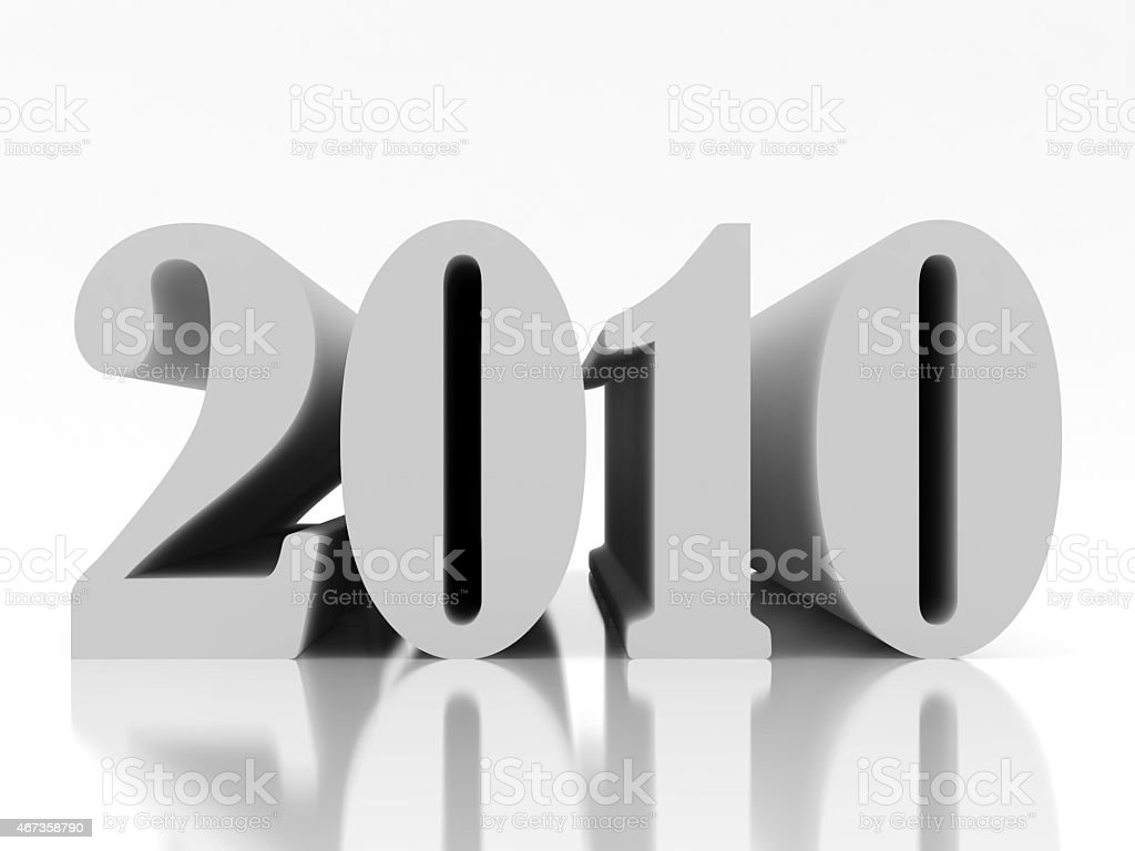 New 2010 year four stock photo