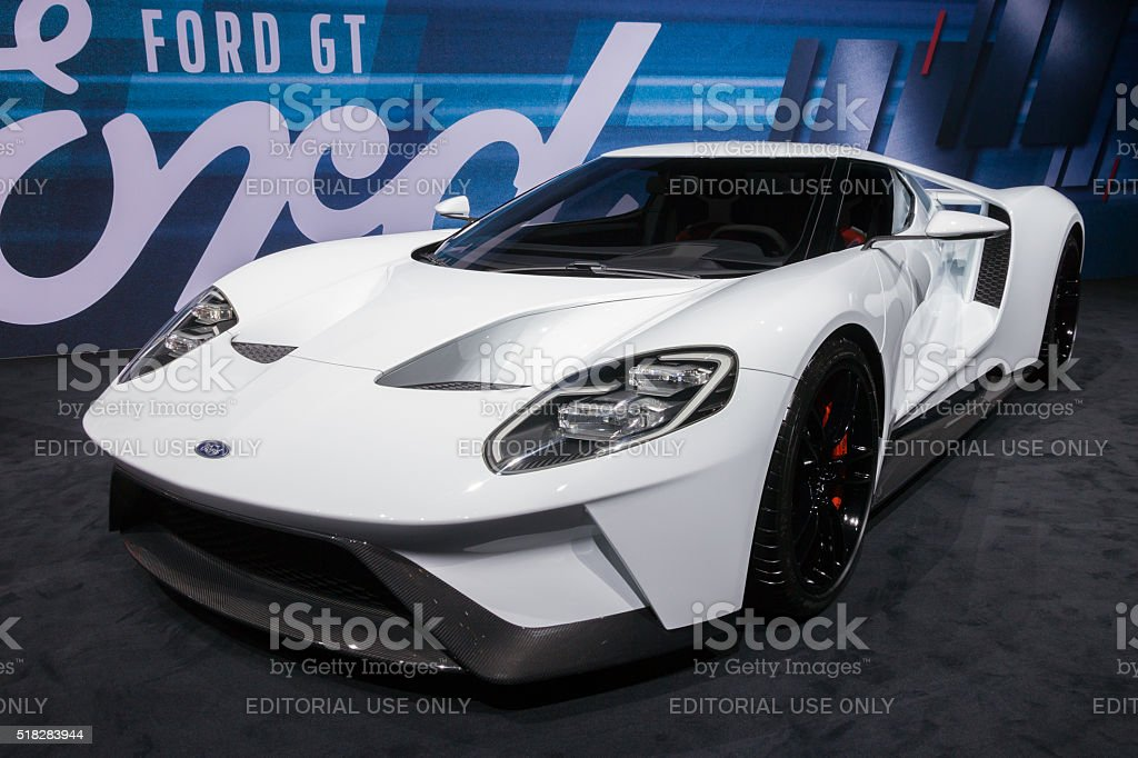 New 2017 Ford GT stock photo
