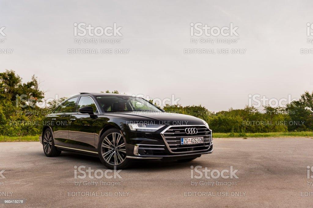 New 2018 Audi A8 50 Tdi Quattro On The Street Stock Photo