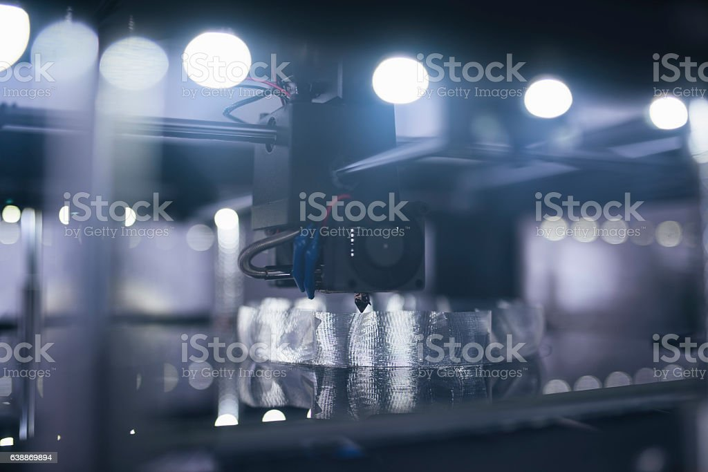 New 3D technology stock photo